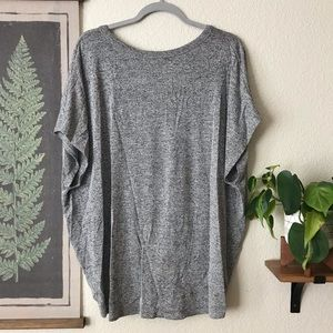 Tie front button-up tee